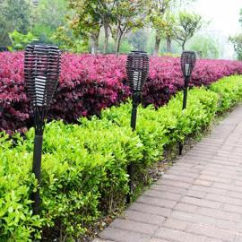 Waterproof Solar LED Torch Light Outdoor Landscape Lawn Garden Rattan Lamp Decor