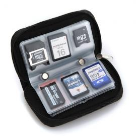 22-Sheet Memory Cards Micro SD Card Storage Bag Pouch Case Black
