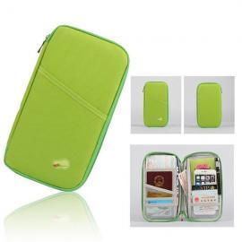 Portable Multifunctional Travels Card Ticket Holder Wallet Purse Storage Bag Green