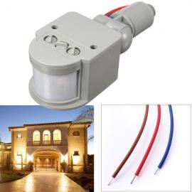 12M Outdoor 180-Degree Security PIR Motion Movement Sensor Detector Switch (AC85V-265V) Gray