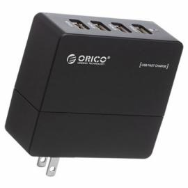 ORICO DCA-4U Compact 4 Ports USB Wall Charger for iPhone iPad Samsung HTC Black US Plug