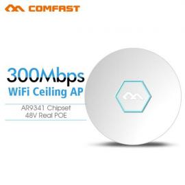 COMFAST Wireless Access Point AP 802.11b/g/n ATHEROS AR9341 Celling Wireless Indoor AP 300Mbps Wi-Fi CPE White US Plug