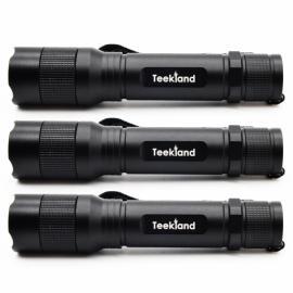 3pcs TEEKLAND C300 XP-G2 2000LM 3 Mode LED Flashlight Rotatable Head