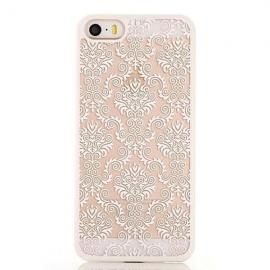 Retro Engraved Pattern Matte Back Case Cover for iPhone 6 Plus/6S Plus White