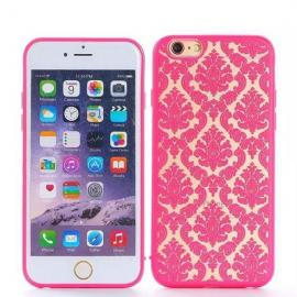 Retro Engraved Pattern Matte Back Case Cover for iPhone 6 Plus/6S Plus Red