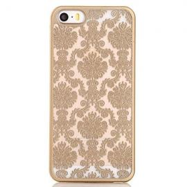 Retro Engraved Back Case Cover Pattern Matte TPU & PC for iPhone 6 Plus/6S Plus Golden