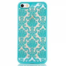 Matte PC Back Case Cover for iPhone 6/6S Green?Retro Engraved Pattern?
