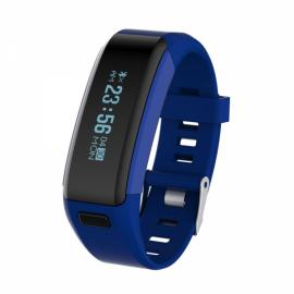 NO.1 F1 Portable Multifunctional Waterproof Heart Rate Blood Pressure Pedometer Smart Bracelet Blue