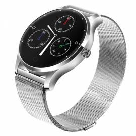 K88 22mm Replaceable Milanese Watch Band Smartwatch Silver