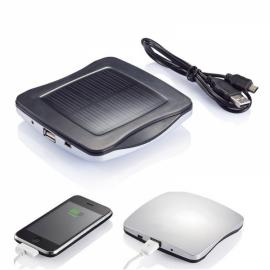 2400mAh XD Window Mounted Solar Charger Power Bank with Sucker for Mobile Phones Silver