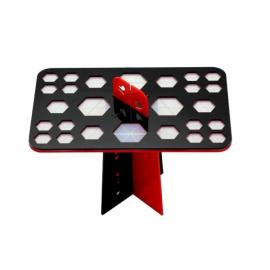 26 Holes Collapsible Makeup Cosmetic Brushes Dryer Organizer Holder Hanger Stand Shelf - Black & Red