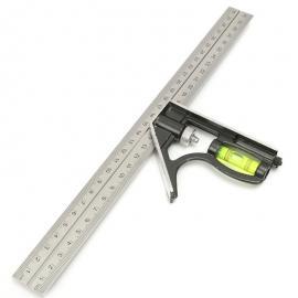 300mm DIY Stainless Steel Measuring Tools Aluminium Combination Square
