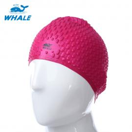 WHALE Unisex Adult Hair Ear Care Hat for Water Sport Waterproof Silico
