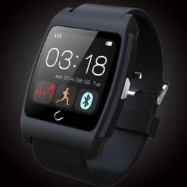 U-WATCH UX Smart Heart Rate Monitor Bluetooth Smart Watch Black
