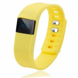 TW64 Pedometer Smart Bracelet Watch with Bluetooth 4.0 IP67 Anti-lost Function Yellow