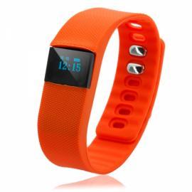 TW64 Pedometer Smart Bracelet Watch with Bluetooth 4.0 IP67 Anti-lost Function Orange