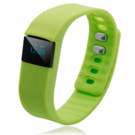 TW64 Pedometer Smart Bracelet Watch with Bluetooth 4.0 IP67 Anti-lost Function Green