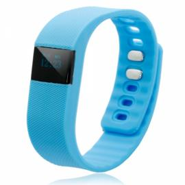 TW64 Pedometer Smart Bracelet Watch with Bluetooth 4.0 IP67 Anti-lost Function Blue