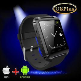Original U-WATCH U8-PLUS Bluetooth Smart Watch (Support iOS & Android) Black