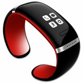 L12S OLED Bluetooth V3.0 Stylish Touch Screen Smart Bracelet Watch Red