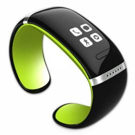 L12S OLED Bluetooth V3.0 Stylish Touch Screen Smart Bracelet Watch Green