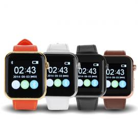 Bluetooth 4.1 Smart Wrist Watch Call MMS Pedometer for IOS Android IPhone6 Samsung Black