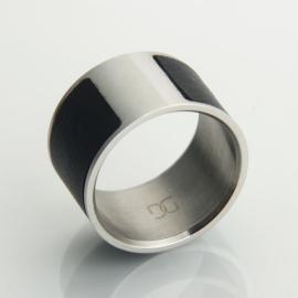 Atongm Galaring Aluminum Smart NFC Ring Size 17 Black
