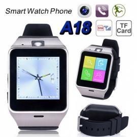 A18 Aplus Bluetooth Smart Watch Single SIM Phone with Dialer Camera NFC Sleep Monitor Black & Silver