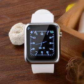 Atongm W009 Intelligent Android & IOS 4-Mode Bluetooth Silicone Wristband Watch with Calendar Display White