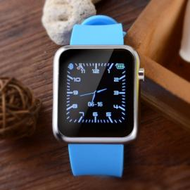 Atongm W009 Intelligent Android & IOS 4-Mode Bluetooth Silicone Wristband Watch with Calendar Display Blue