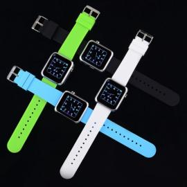 Atongm W009 Intelligent Android & IOS 4-Mode Bluetooth Silicone Wristband Watch with Calendar Display Black