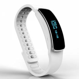 T2 IPX6 Waterproof iOS & Android Wearable Watch Pedometer Sleep Monitor Reminder Sports Wristband Smart Bracelet White