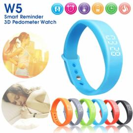 W5 USB Multi-functional Smart Wrist Band Bracelet with G-sensor / Pedometer / Data Memory / Sleep Monitor Blue