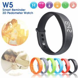 W5 USB Multi-functional Smart Wrist Band Bracelet with G-sensor / Pedometer / Data Memory / Sleep Monitor Black