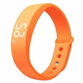 W5 USB Multi-functional Smart Wrist Band Bracelet with G-sensor / Pedometer / Data Memory / Sleep Monitor Orange