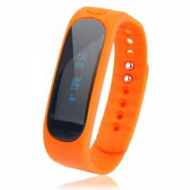 E02 Deep Waterproof Bluetooth 4.0 Smart Wrist Band Bracelet for Android & iOS Phone Yellow