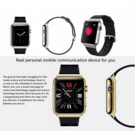 K8 Android 4.4 with 2M pixels Webcam Wifi FM Bluetooth Smart Watch Phone Support SIM Card Black