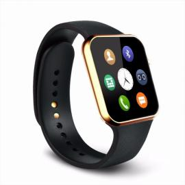 A9 Bluetooth Smart Watch with Heart Rate Monitor for Android & iOS Phone Golden