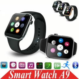 A9 Bluetooth Smart Watch with Heart Rate Monitor for Android & iOS Phone Silver