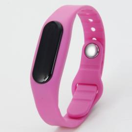 E06 Bluetooth Smart Sports Bracelet with Pedometer / Sleep Monitor / Call Notification / Anti-lost Rose Red