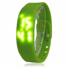 W2 USB Multi-functional 3D Pedometer Smart Sports Bracelet Green