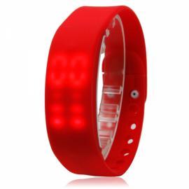 W2 USB Multi-functional 3D Pedometer Smart Sports Bracelet Red