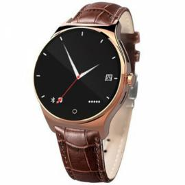 R11 Round Screen Bluetooth & Infrared Control Raise-to-Wake Heart Rate Monitor Smart Watch Rose Golden
