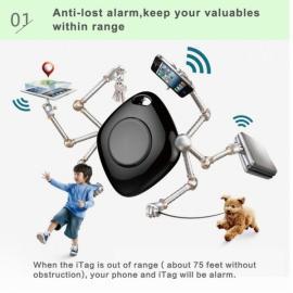 iTag-02 Wireless Bluetooth V4.0 Smart Anti-lost Alert Finder Locator Black