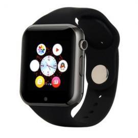 W1 Sports Mode Handsfree Call Anti-Lost 2.0MP Camera Bluetooth 4.0 Smart Watch Black