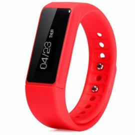 I5 Plus IP67 Waterproof Bluetooth V4.0 Sleep Monitoring Sports Tracking Call Alert Smart Wristband Red