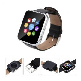 Zeblaze Rover Toughened OGS Panel MTK2501 Bluetooth 4.0 Smart Watch with Premium Leather Strap Black