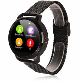 V360 Waterproof Pedometer G-sensor Bluetooth 4.0 Smart Watch for iOS / Android Phone Black