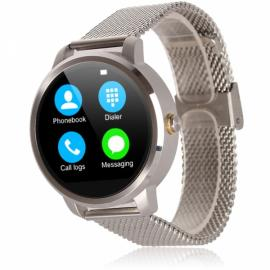 V360 Waterproof Pedometer G-sensor Bluetooth 4.0 Smart Watch for iOS / Android Phone Silver