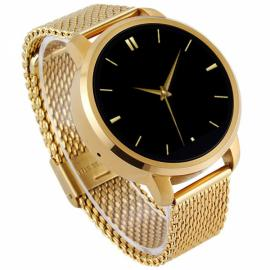 V360 Waterproof Pedometer G-sensor Bluetooth 4.0 Smart Watch for iOS / Android Phone Golden